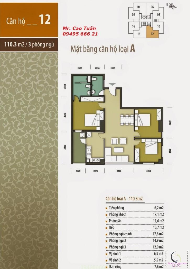 Thiết kế căn 12Hhb tân tây đô