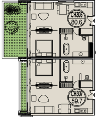 thiết kế căn hộ 305 flamingo đại lải