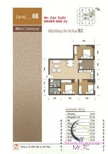 Thiết kế căn 08 Hhb tân tây đô