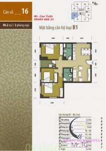 Thiết kế căn 16 Hhb tân tây đô